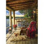Puzzle  Cobble-Hill-70049 Jack Pine - Cabin Porch