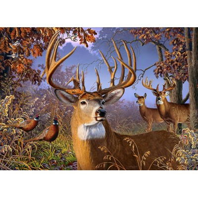 Puzzle Cobble-Hill-70055 Jack Pine - Deer and Pheasant