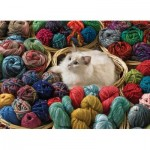Puzzle  Cobble-Hill-80072 Fur Ball