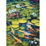 Puzzle  Cobble-Hill-80087 Koi Pond