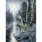 Puzzle  Cobble-Hill-80108 Wolves by Moonlight