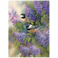 Puzzle  Cobble-Hill-80112 Chickadees and Lilacs