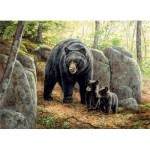 Puzzle  Cobble-Hill-80154 Mama Bear