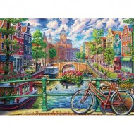 Puzzle  Cobble-Hill-80180 Amsterdam Canal