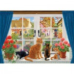 Puzzle  Jumbo-11064 Sarah Adams : Through the Cottage Window