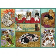 Puzzle  Jumbo-11219 Happy Puppies