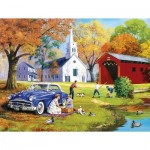 Puzzle  Sunsout-13735 Pièces XXL - Family Time by the River