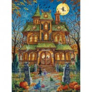 Puzzle  Sunsout-15515 Randal Spangler - The Trick or Treat House