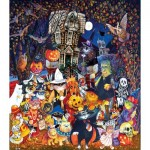 Puzzle  Sunsout-21893 Pièces XXL - Cats and Dogs on Halloween