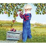 Puzzle  Sunsout-26282 Patricia Bourque - Apple Picking