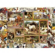 Puzzle  Sunsout-27256 Pièces XXL - Barbara Behr - On the Farm