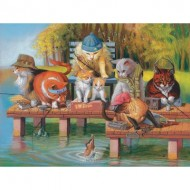 Puzzle  Sunsout-28039 Pièces XXL - Fishing on the Dock