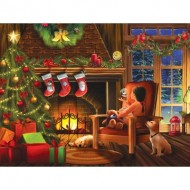 Puzzle  Sunsout-28816 Tom Wood - Dreaming of Christmas