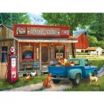 Puzzle  Sunsout-28842 Tom Wood - A Stop at the Store
