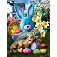Puzzle  Sunsout-28844 Tom Wood - Easter Buddies