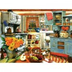 Puzzle  Sunsout-28851 Tom Wood - Grandma's Country Kitchen
