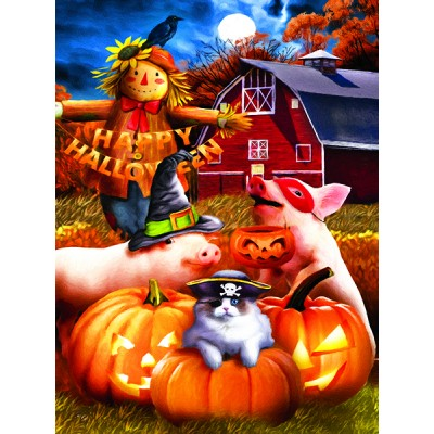 Puzzle Sunsout-28856 Tom Wood - Happy Halloween