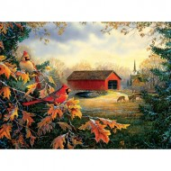 Puzzle  Sunsout-29184 Sam Timm - Red River Crossing