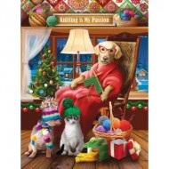 Puzzle  Sunsout-29718 Pièces XXL - Tom Wood - Another Knitted Gift from Grandma