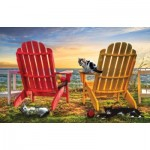 Puzzle  Sunsout-30112 Celebrate Life Gallery - Cat Nap at the Beach