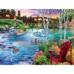 Puzzle  Sunsout-31418 Pièces XXL - Bridge Fishing