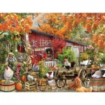 Puzzle  Sunsout-34871 Pièces XXL - Barnyard Chickens