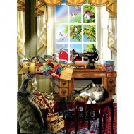 Puzzle  Sunsout-34981 Pièces XXL - Lori Schory - The Sewing Room