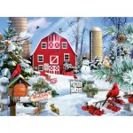 Puzzle  Sunsout-35013 Pièces XXL - A Snowy Day on the Farm