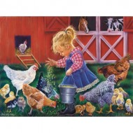 Puzzle  Sunsout-35886 Pièces XXL - Little Farm Girl