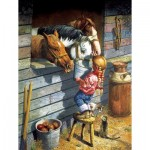 Puzzle  Sunsout-36048 Pièces XXL - Working Girl