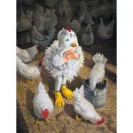 Puzzle  Sunsout-36062 Pièces XXL - New Rooster in Town