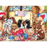 Puzzle  Sunsout-36456 Pièces XXL - Puppies in the Kitchen