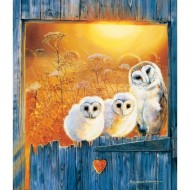 Puzzle  Sunsout-36994 Pollyanna Pickering - Owls in the Window