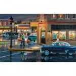 Puzzle  Sunsout-37767 Ken Zylla - Small Town Saturday Night