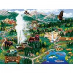 Puzzle  Sunsout-38892 Joseph Burgess - Yellowstone Adventures