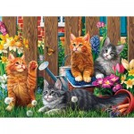 Puzzle  Sunsout-42914 Pièces XXL - Kittens in the Garden