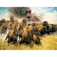 Puzzle  Sunsout-44237 Pièces XXL - The Coming of the Iron Horse