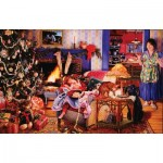 Puzzle  Sunsout-44631 Susan Brabeau - Christmas Thieves
