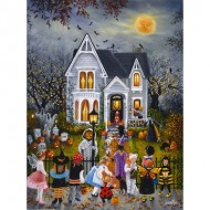 Puzzle  Sunsout-45430 Susan Rios - Scary Night