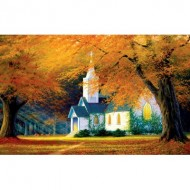Puzzle  Sunsout-48560 Charles White - Church in the Glen