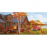 Puzzle  Sunsout-51302 Pièces XXL - Geno Peoples - The Pleasures of Fall