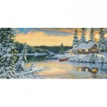 Puzzle  Sunsout-51546 Persis Clayton Weirs - Cabin on the River