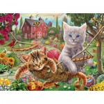 Puzzle  Sunsout-51824 Adrian Chesterman - Cats on the Farm