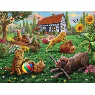 Puzzle  Sunsout-51836 Pièces XXL - Dogs and Cats at Play