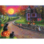 Puzzle  Sunsout-52015 Pièces XXL - On a Spooky Night
