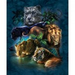 Puzzle  Sunsout-52416 Tami Alba - Big Cat Prowess