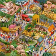 Puzzle  Sunsout-52437 Gale Pitt - A Crazy Zoo