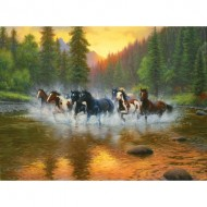 Puzzle  Sunsout-53017 Mark Keathley - Evening Romp