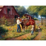 Puzzle  Sunsout-53084 Pièces XXL - Mark Keathley - Learning the Ropes