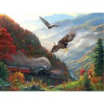 Puzzle  Sunsout-53135 Mark Keathley - Great Smoky Mountain Railroad